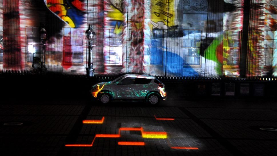 Projection Mapping Show Launch