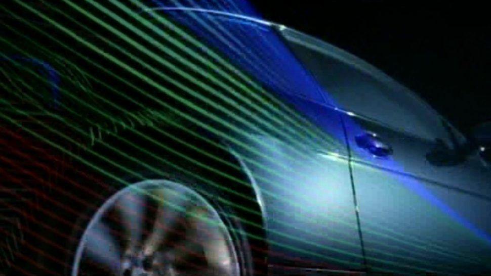 bmw car laser effects