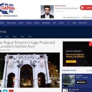 capital fm Article on RIhanna ROGUE projection
