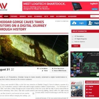 AV magazine Article on Dreamhunters Cheddar Gorge