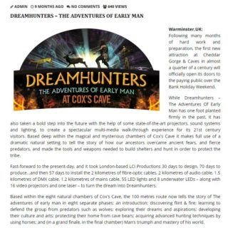 amusement park news on Dreamhunters Cheddar Gorge