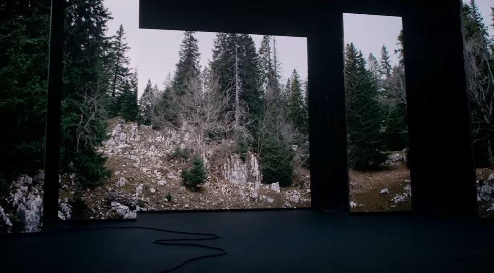 TV advert projection & laser fx