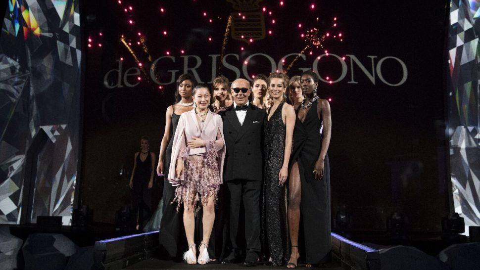 3d hologram projection de grisogono fashion show cannes LCI Productions