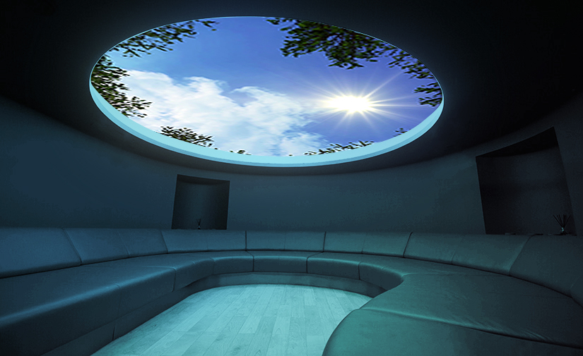 LCI Productions magical sky lighting feature at Aqua Sana