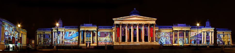 LCI Production's National Gallery Picasso Large Scale Building Projection Mapping