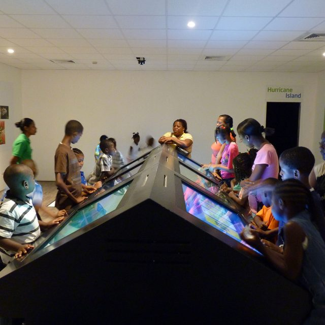 LCI's interactive technologies featuring educational games for visitor centres and museums