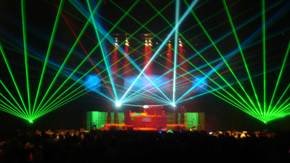 LCI's New Years Eve laser show at the NEC, Birmingham