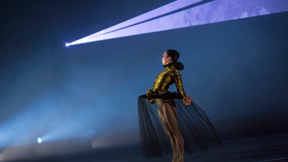 Choreographed laser show for the Royal Ballet