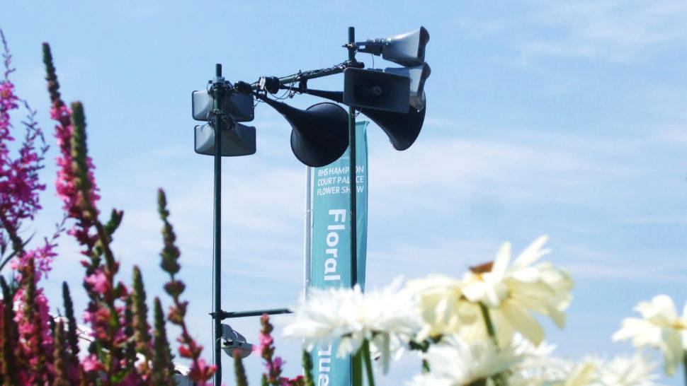 LCI - RHS flower show public address systems