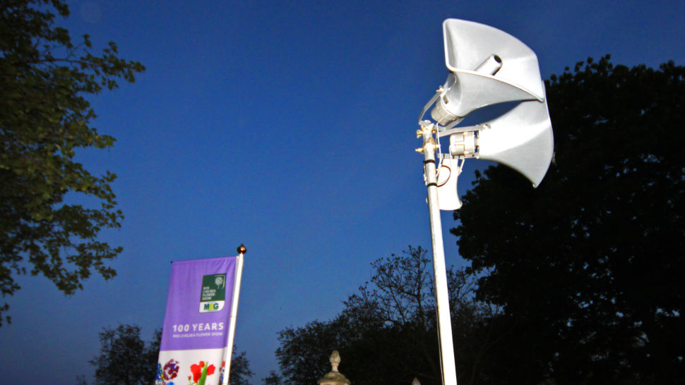 LCI - RHS flower show public address systems, coms and AV support
