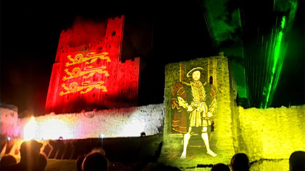 Rochester Castle Son Et Lumiere