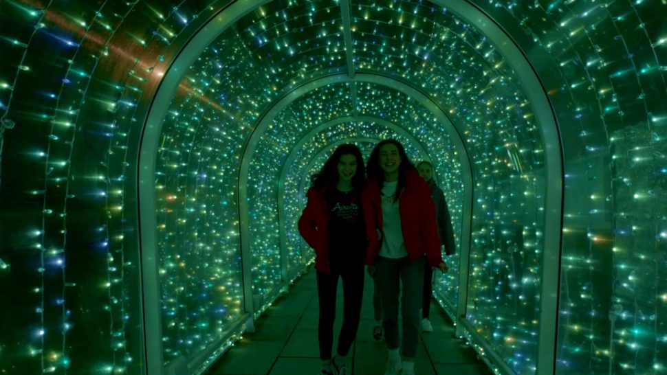 LCI Bude Tunnel Christmas illumination Pixel Mapped display