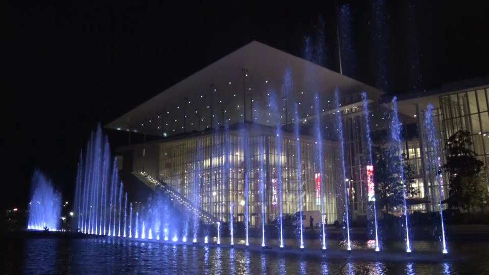LCI - Musical Fountains installation - SNFCC Athens