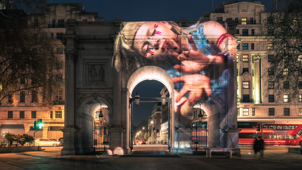 LCI - Aurora Building Projection on Marble Arch