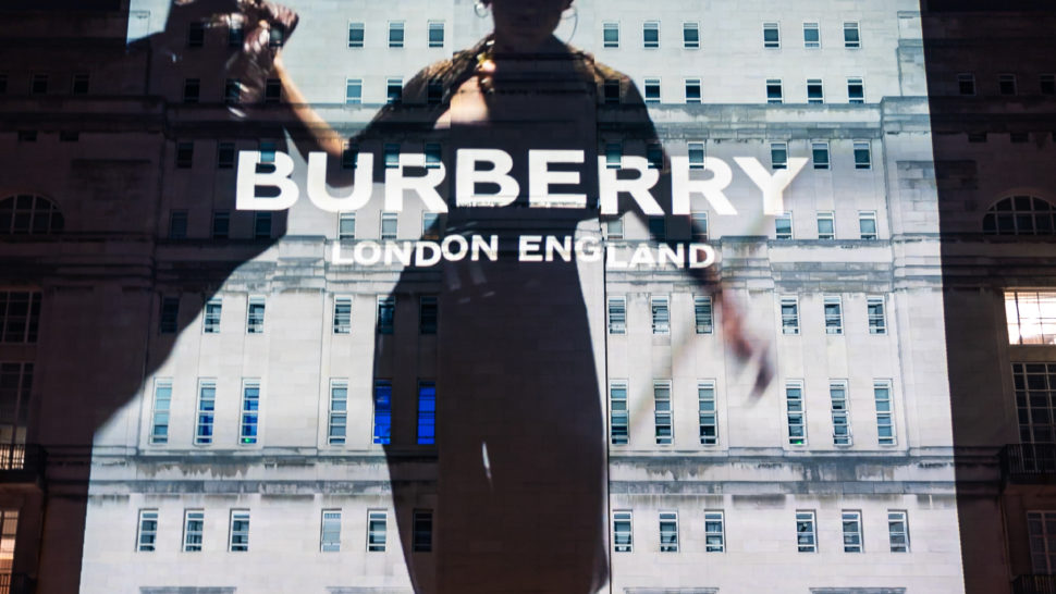 LCI - Building Projection - Burberry in London