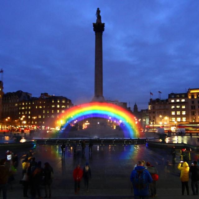 water screen rainbow london