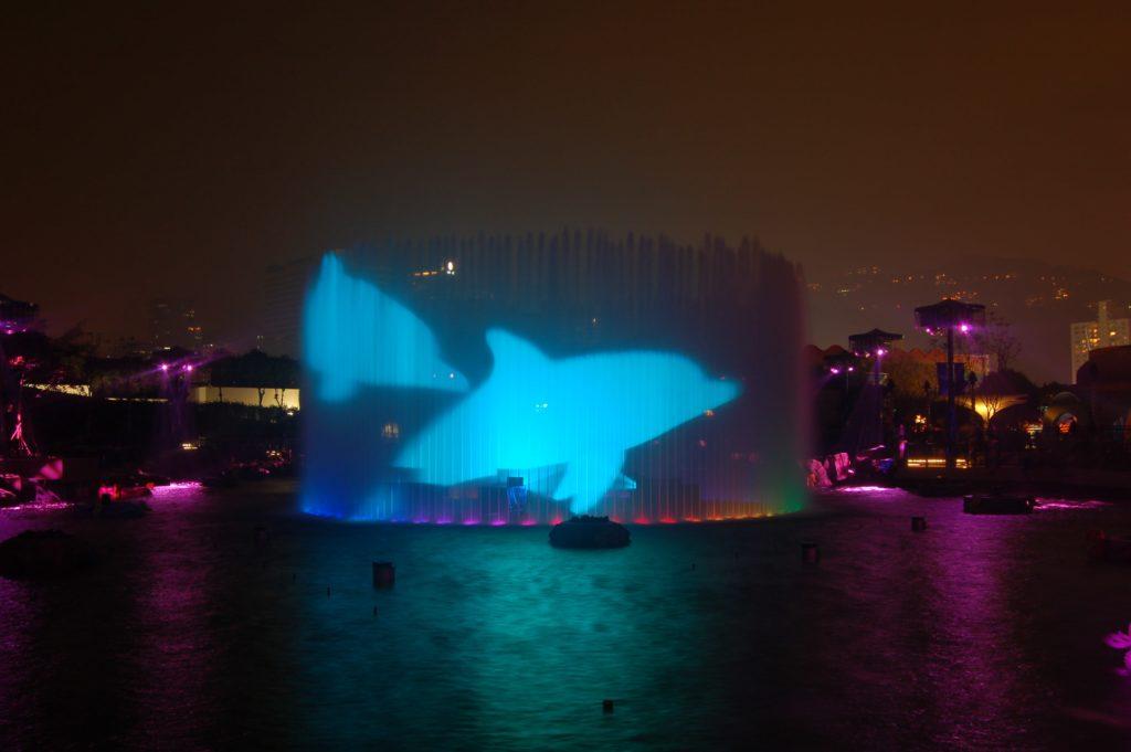 360 jet fountain water screen by lci