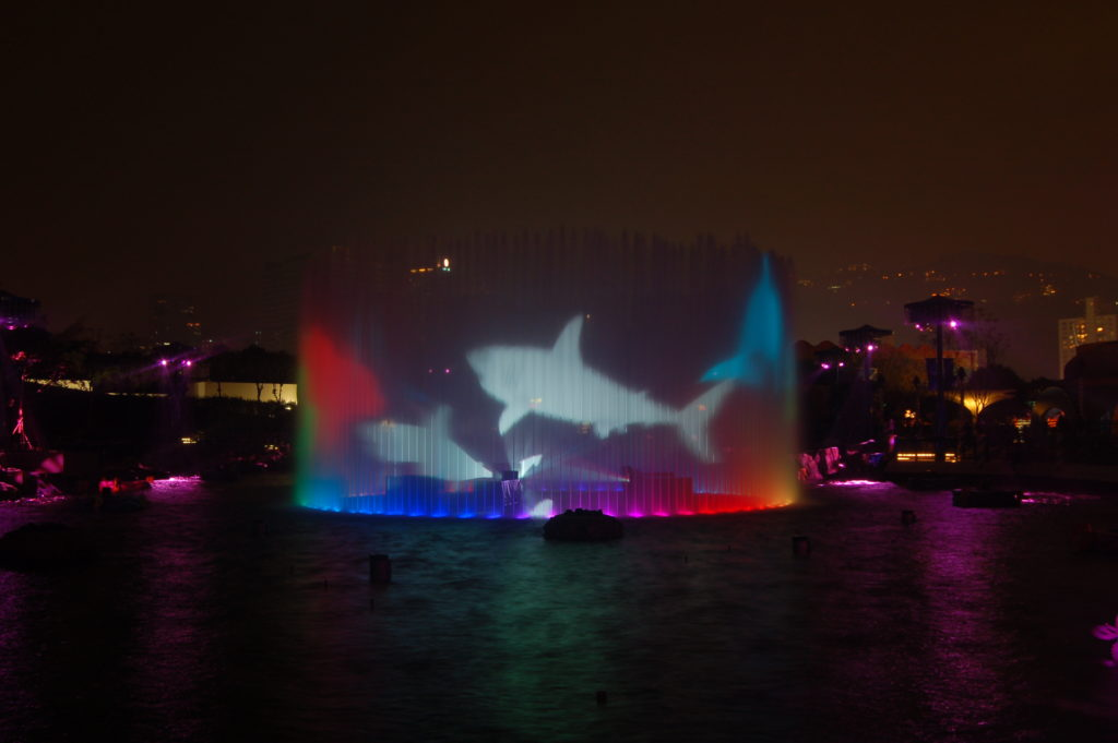 jet water screen fountain symbio