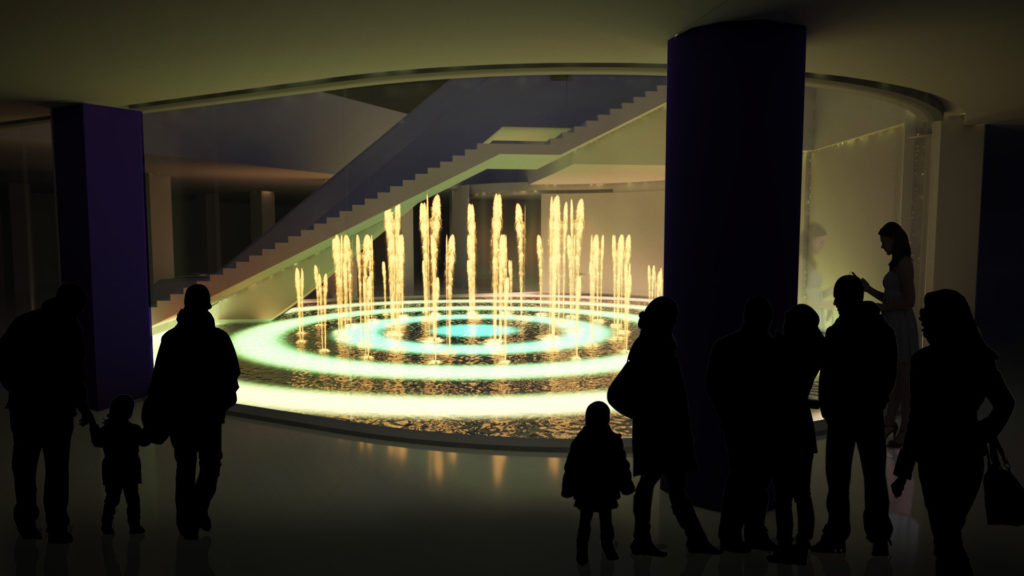 3D fountain design concept visualisations LCI