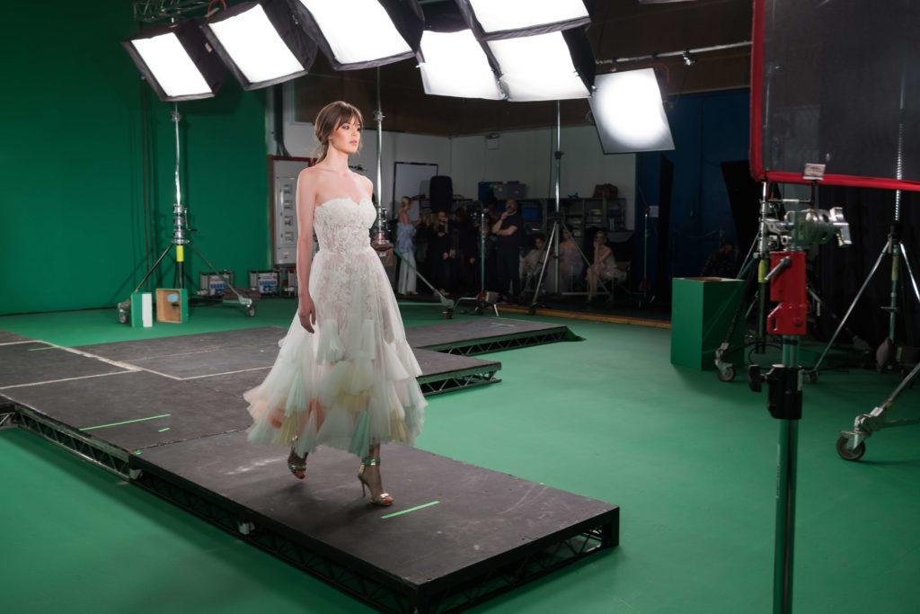 studio fashion shoot projection green screen