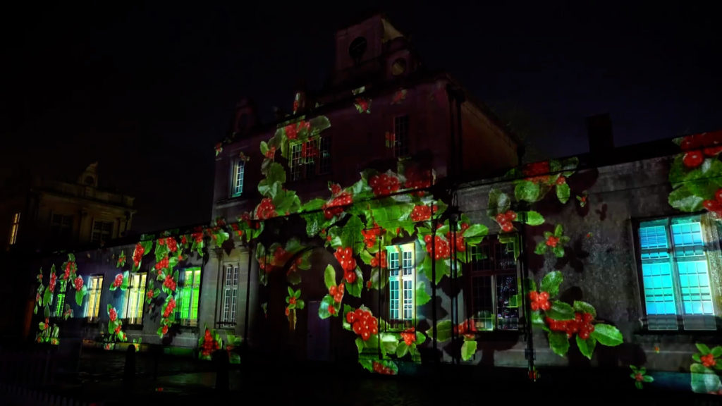 LCI Longleat Christams Show Projection Mapping