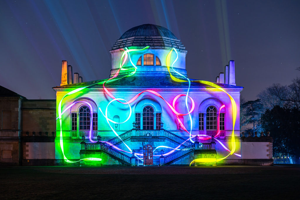 building projection mapping chiswick house by lci