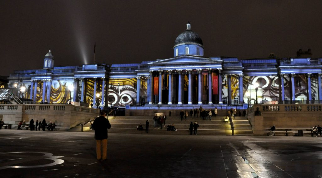LCI - Building Projection National Gallery London