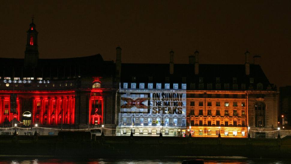 LCI - Building Projection - X Factor on Parliament