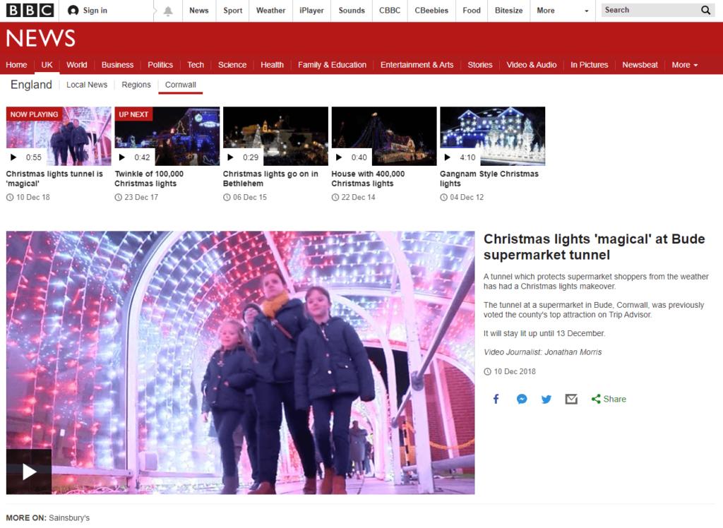 BUDE TUNNEL BBC NEWS
