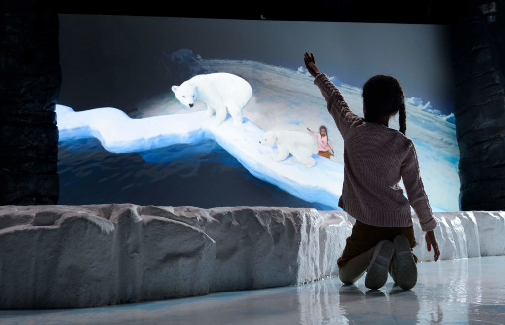 Interactive augmented reality installation designed by LCI