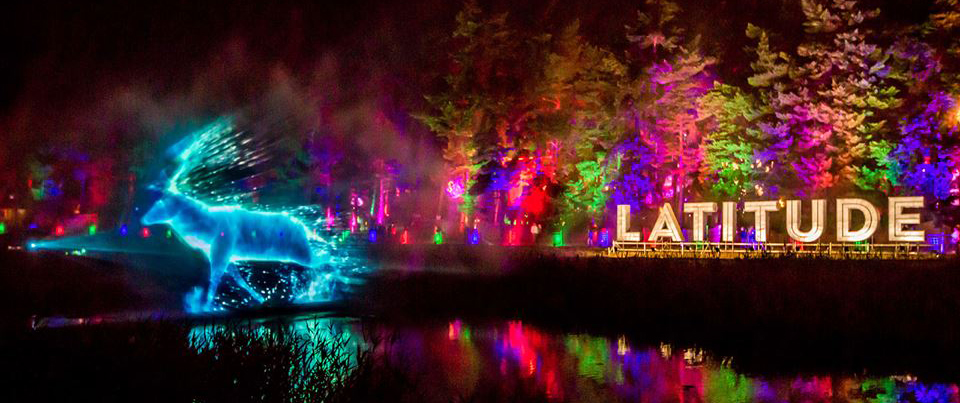 latitude festival water screen projections
