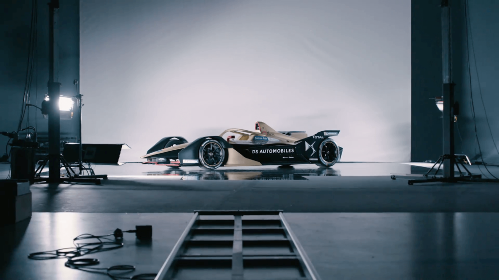 DS formula e car projection mapping